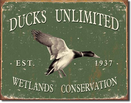 "12.5"" x 16"" Ducks unlimited Tin Sign"