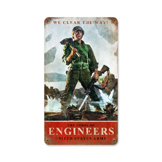 Army Corps Engineers vintage metal sign