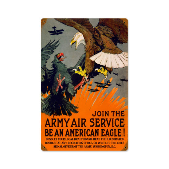 Eagle Army Air vintage metal sign