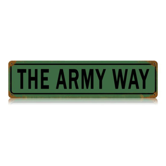 The Army Way vintage metal sign