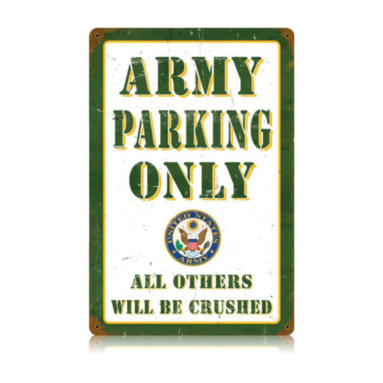 Parking vintage metal sign