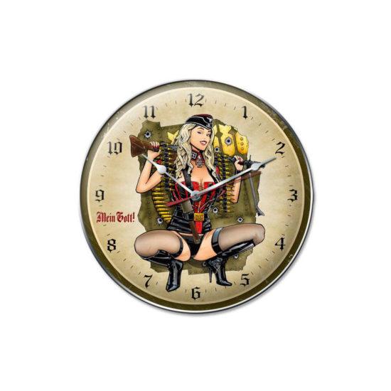 Gunner Girl vintage style clock