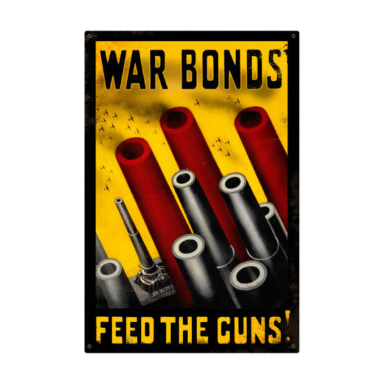 Feed The Guns metal sign