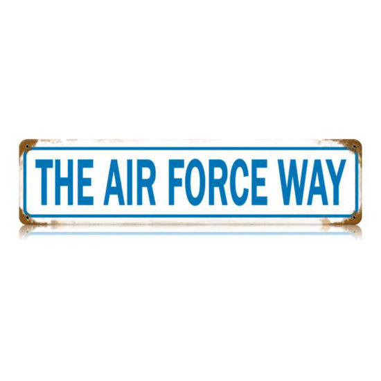 The Air Force Way vintage metal sign