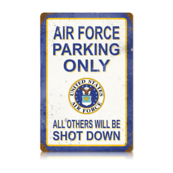 Air Force Parking Only vintage metal sign