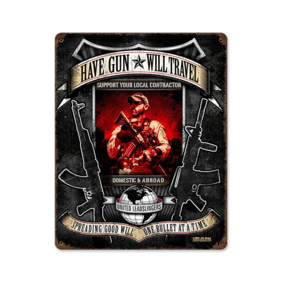 Have Gun Will Travel Metal Sign