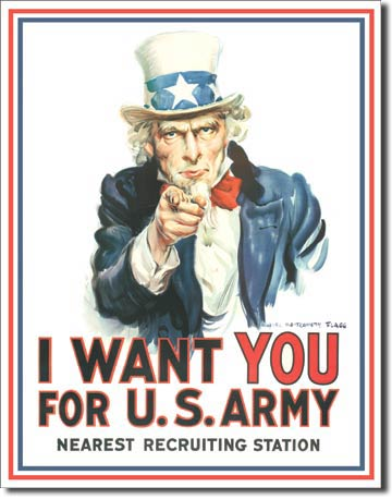 I want you For US Army Tin Sign